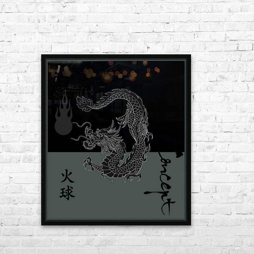 Chinese Concept 09A HD Sublimation Metal print with Decorating Float Frame (BOX)