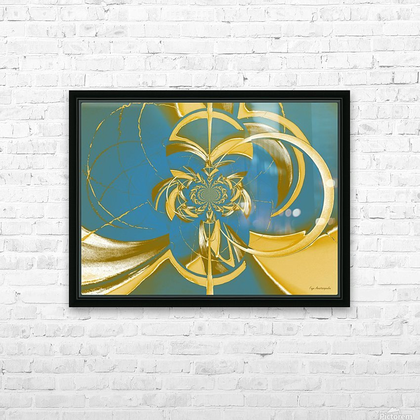 Classic Royal Design HD Sublimation Metal print with Decorating Float Frame (BOX)