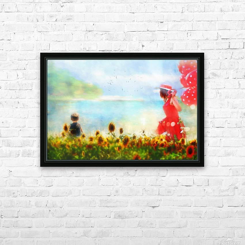 The lake HD Sublimation Metal print with Decorating Float Frame (BOX)