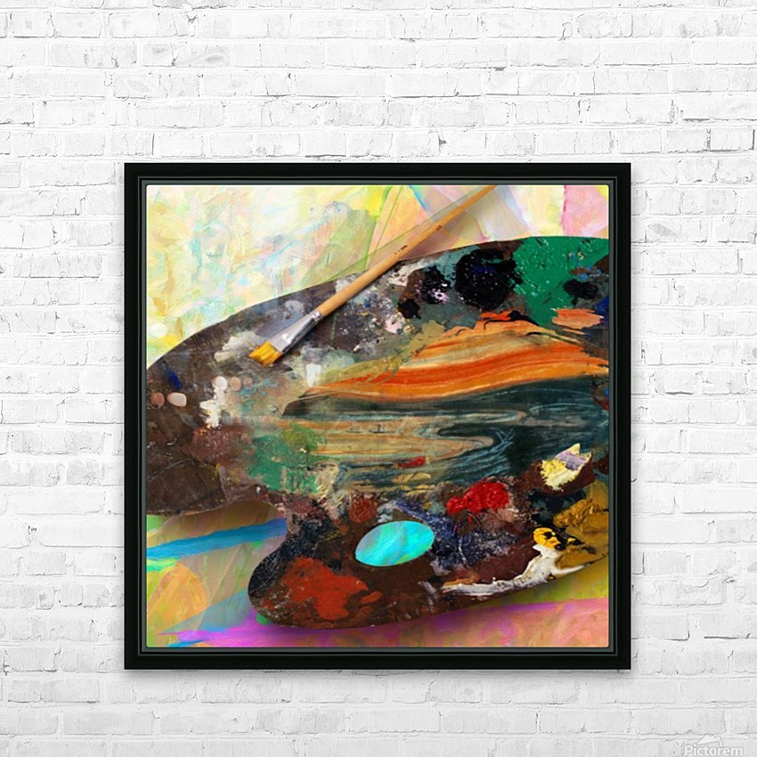 Brush Art HD Sublimation Metal print with Decorating Float Frame (BOX)
