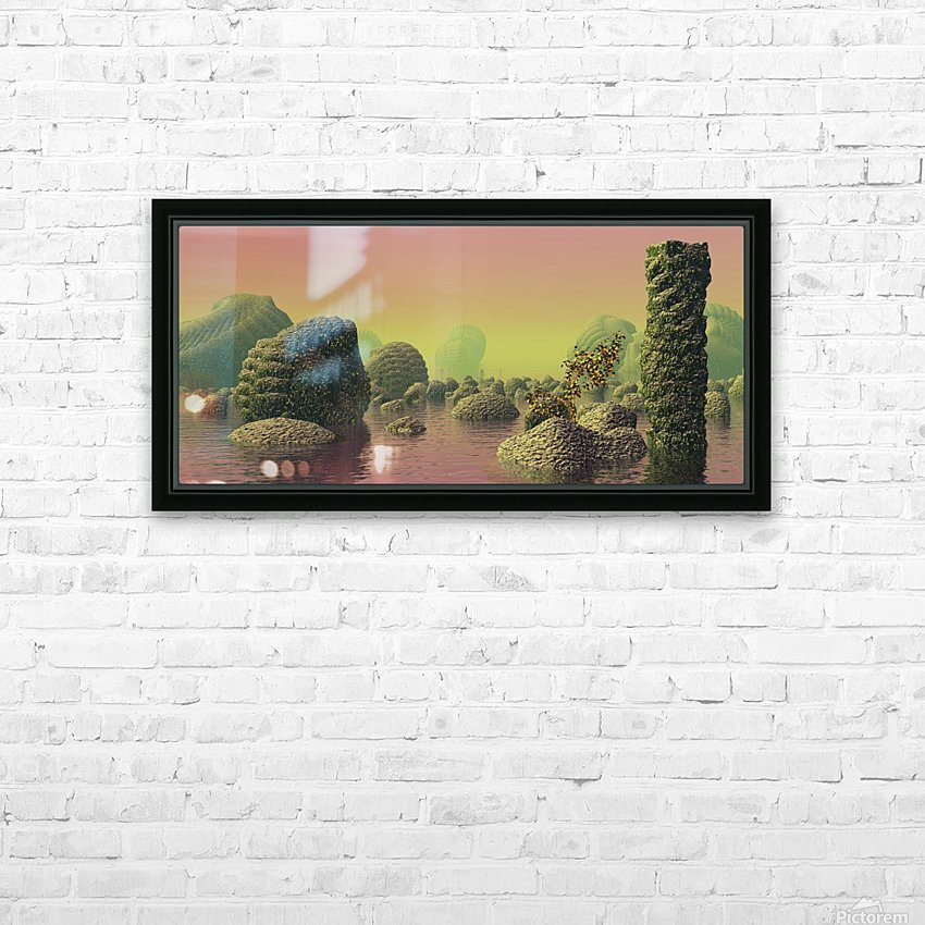 planet water sea landscape space HD Sublimation Metal print with Decorating Float Frame (BOX)