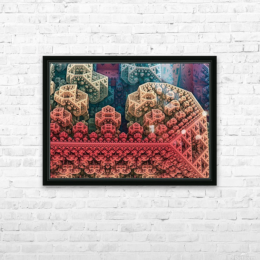 fractals 3d graphics designs   HD Sublimation Metal print with Decorating Float Frame (BOX)