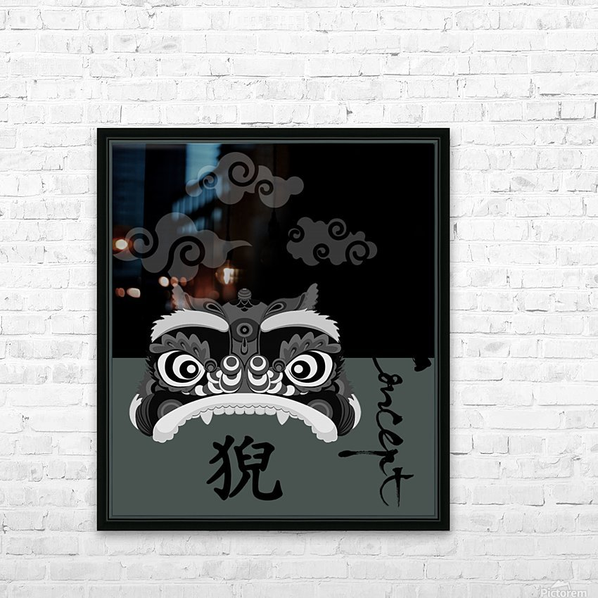 Chinese Concept 13A HD Sublimation Metal print with Decorating Float Frame (BOX)