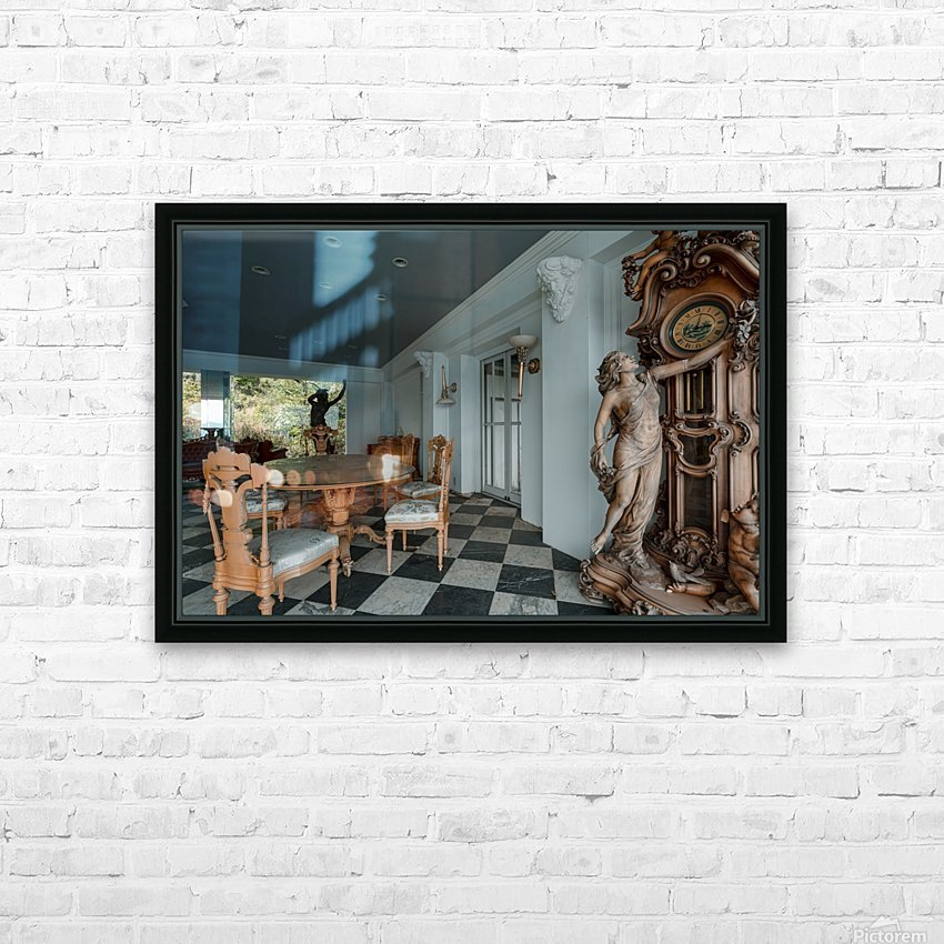Abandoned Billionaires Mansion HD Sublimation Metal print with Decorating Float Frame (BOX)