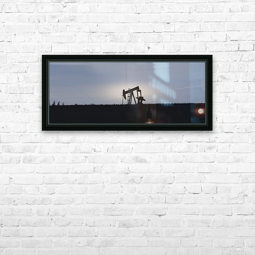 Pumpjack Oil Rig HD Sublimation Metal print with Decorating Float Frame (BOX)