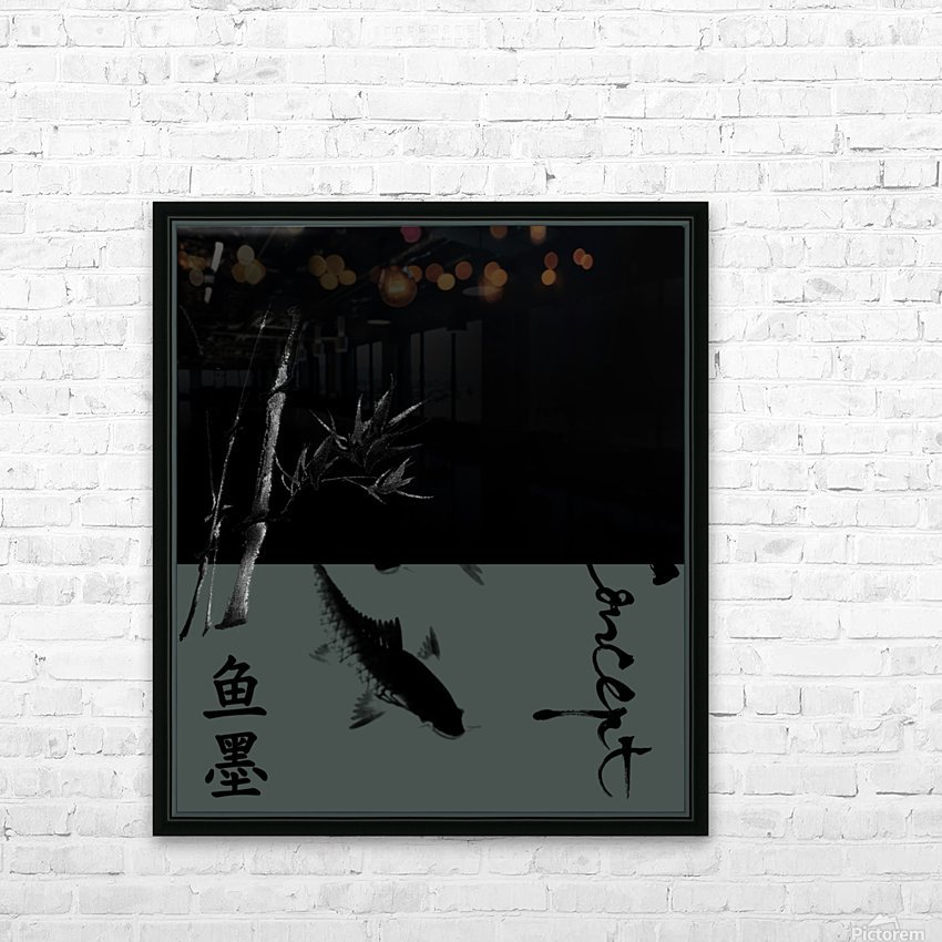 Chinese Concept 17A HD Sublimation Metal print with Decorating Float Frame (BOX)