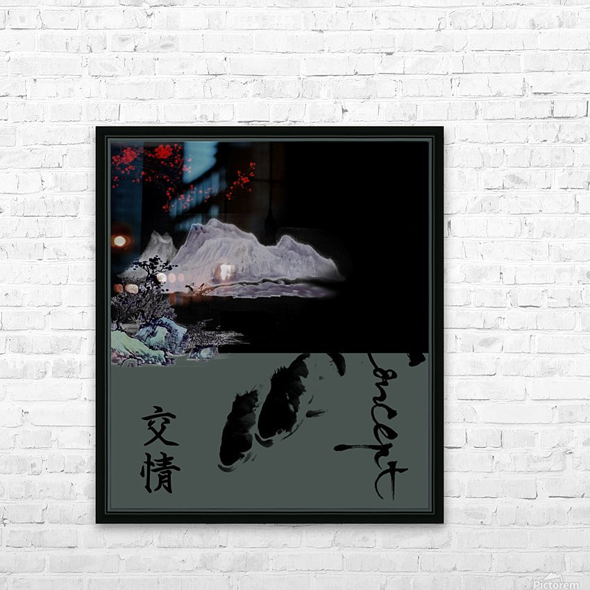 Chinese Concept 19A HD Sublimation Metal print with Decorating Float Frame (BOX)