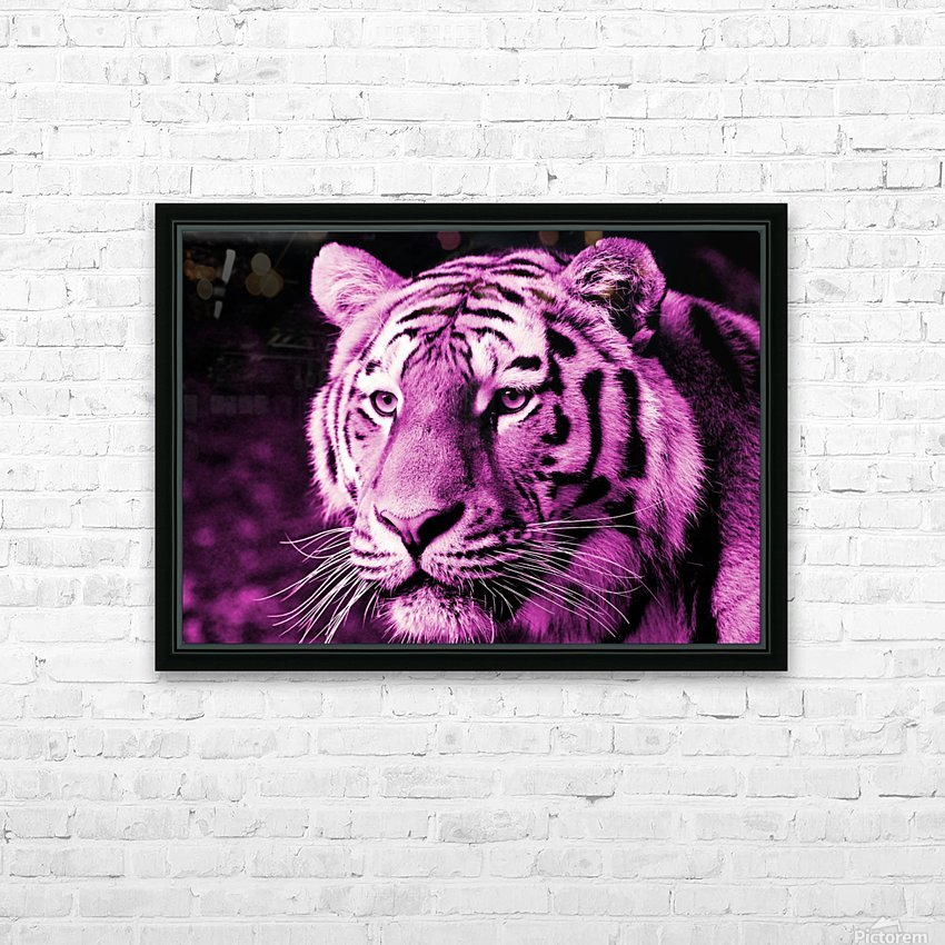 Tiger pop pink HD Sublimation Metal print with Decorating Float Frame (BOX)