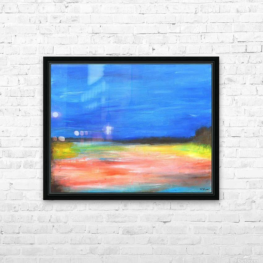 Colors of a Quiet Day HD Sublimation Metal print with Decorating Float Frame (BOX)