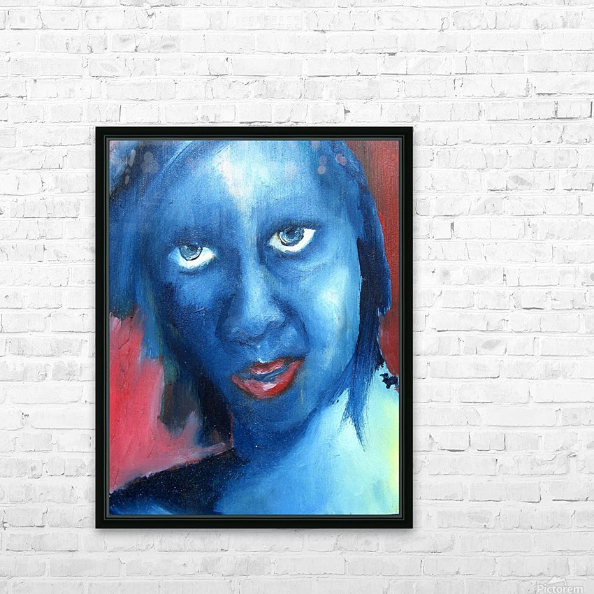 Feeling Blue HD Sublimation Metal print with Decorating Float Frame (BOX)