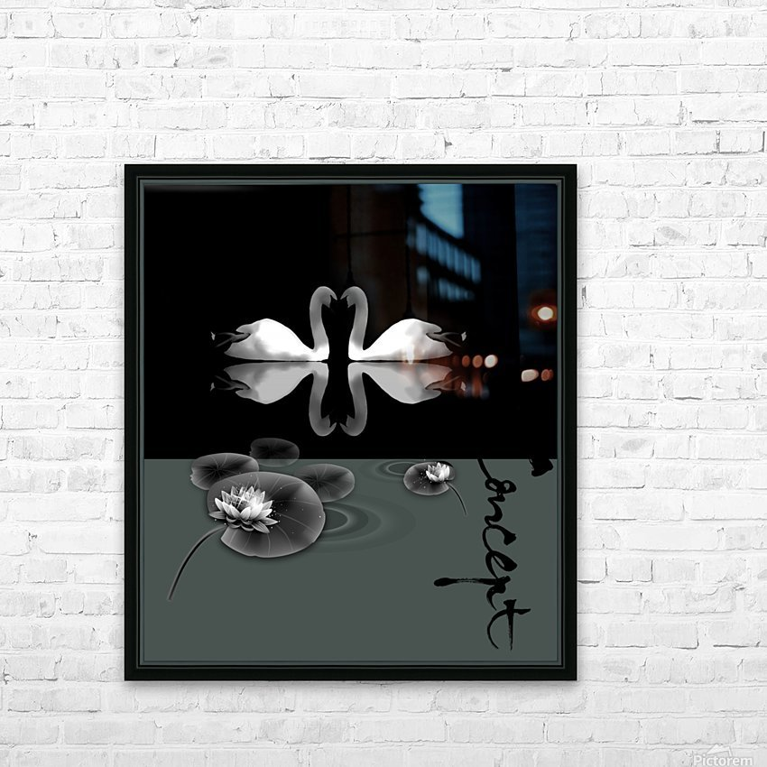 Chinese Concept 21A HD sublimation métal imprimé avec décoration flotteur cadre (boîte)