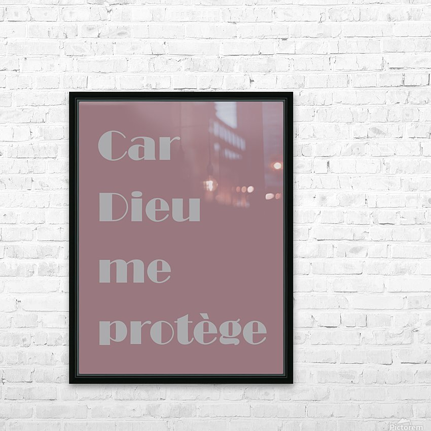 Car Dieu me protège HD Sublimation Metal print with Decorating Float Frame (BOX)