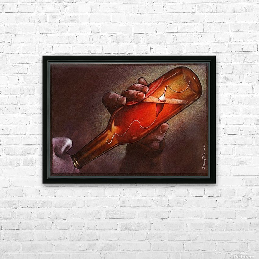 Drink HD Sublimation Metal print with Decorating Float Frame (BOX)