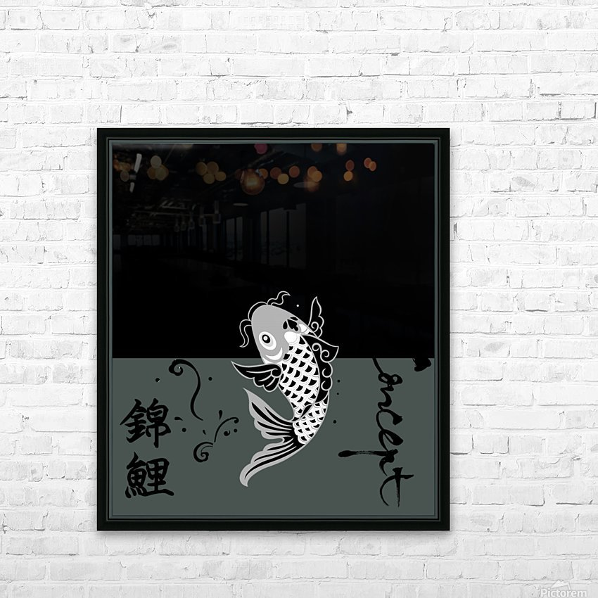 Chinese Concept 23A HD Sublimation Metal print with Decorating Float Frame (BOX)