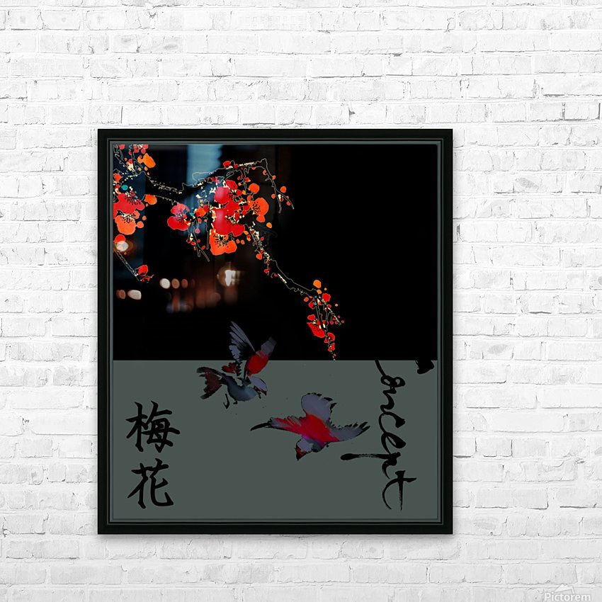 Chinese Concept 25A HD Sublimation Metal print with Decorating Float Frame (BOX)