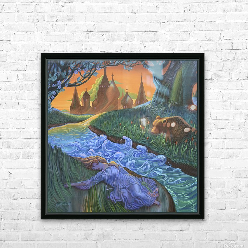 The Mystical Divide HD Sublimation Metal print with Decorating Float Frame (BOX)