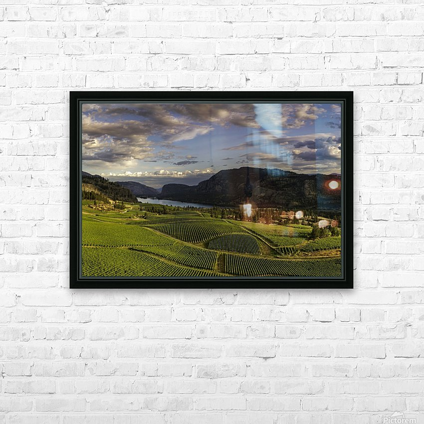 Vaseaux Lake vineyard HD Sublimation Metal print with Decorating Float Frame (BOX)