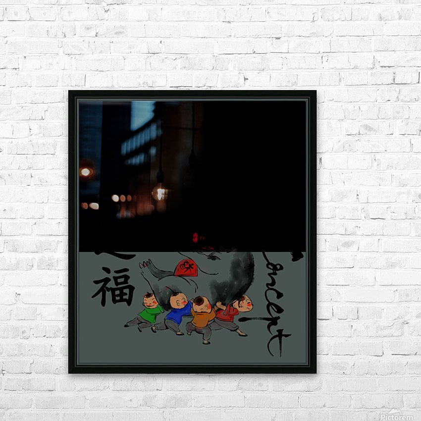 Chinese Concept 30A HD Sublimation Metal print with Decorating Float Frame (BOX)