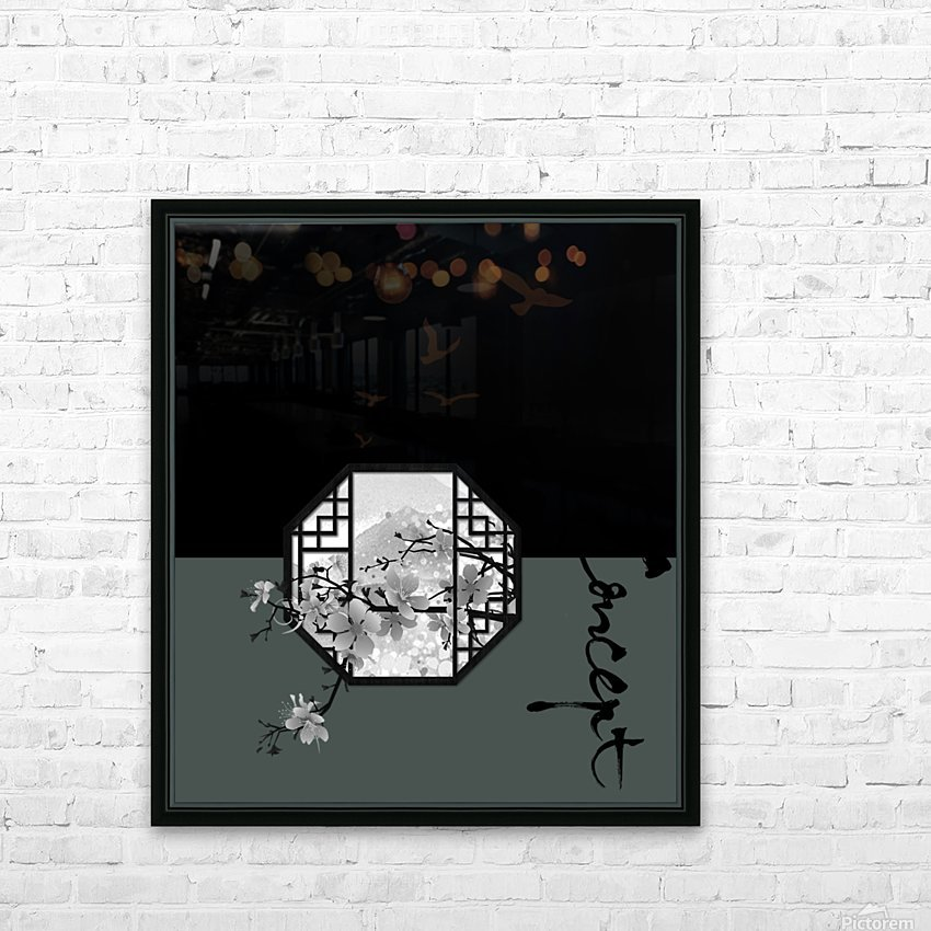 Chinese Concept 35A HD Sublimation Metal print with Decorating Float Frame (BOX)