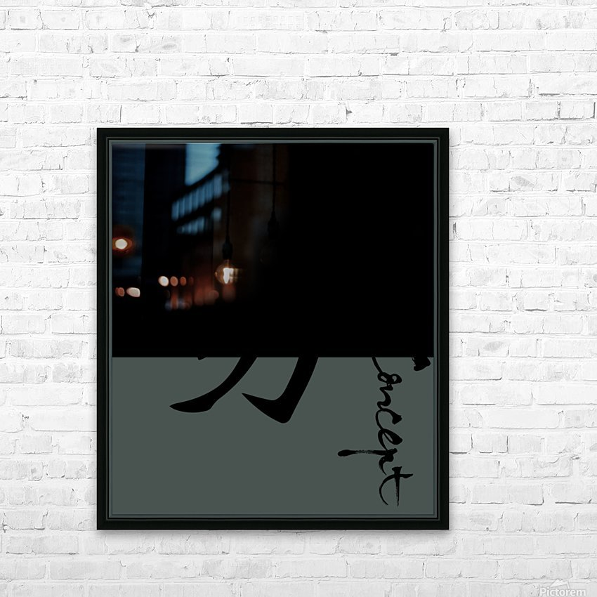 Chinese Concept 36A HD Sublimation Metal print with Decorating Float Frame (BOX)