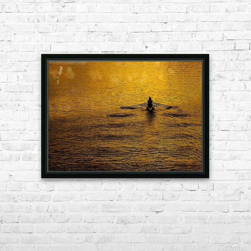 Morning Row HD Sublimation Metal print with Decorating Float Frame (BOX)