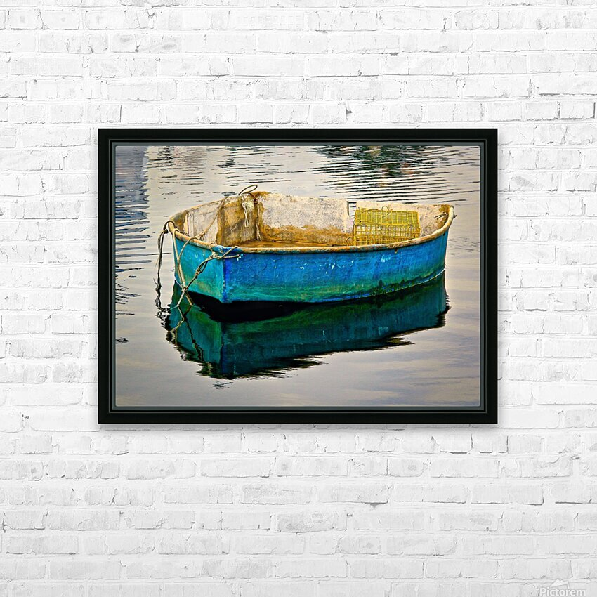 Anchored Boat at Dawn HD Sublimation Metal print with Decorating Float Frame (BOX)