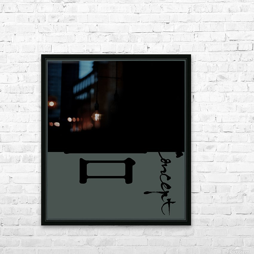 Chinese Concept 39A HD Sublimation Metal print with Decorating Float Frame (BOX)
