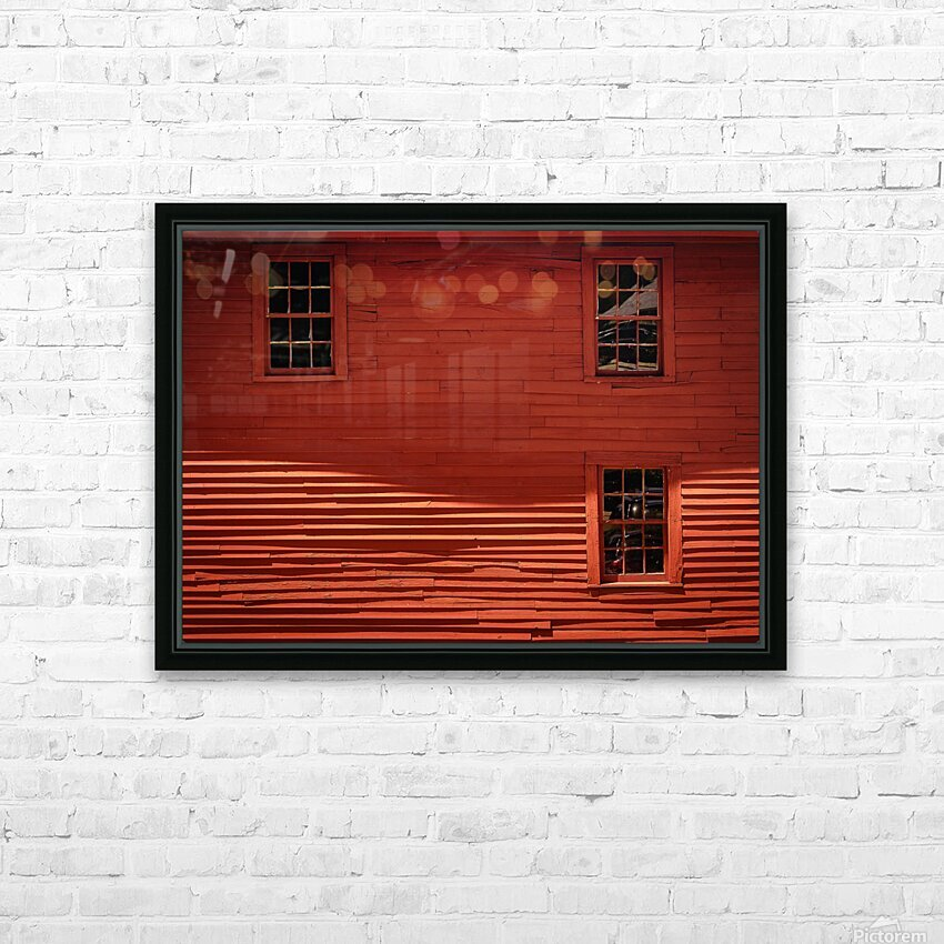 Red House - Harrisville NH HD Sublimation Metal print with Decorating Float Frame (BOX)