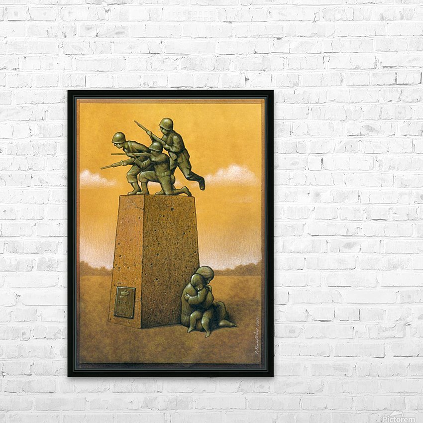 Monument HD Sublimation Metal print with Decorating Float Frame (BOX)
