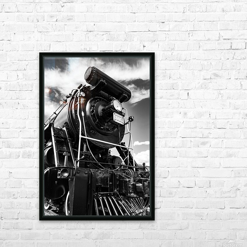 Canadian Steam Locomotive 6015 B HD Sublimation Metal print with Decorating Float Frame (BOX)