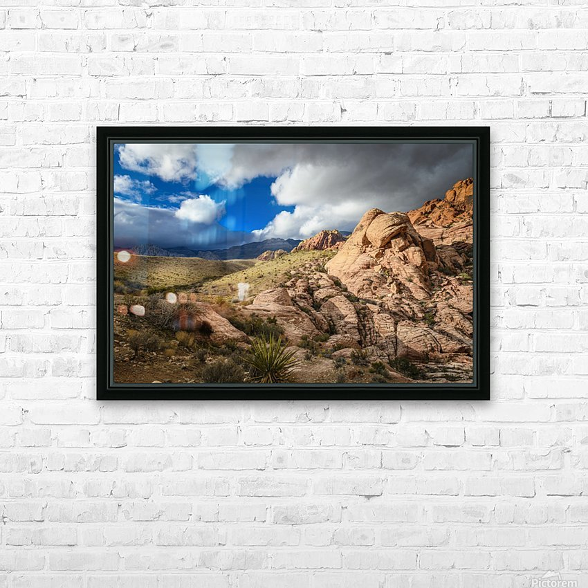 Red Rock Canyon HD Sublimation Metal print with Decorating Float Frame (BOX)