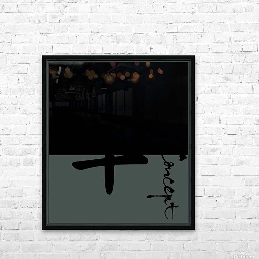 Chinese Concept 41A HD Sublimation Metal print with Decorating Float Frame (BOX)