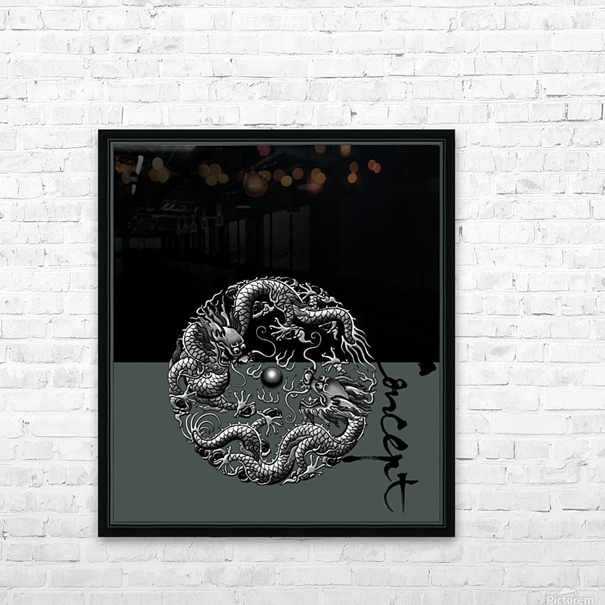 Chinese Concept 42A HD Sublimation Metal print with Decorating Float Frame (BOX)