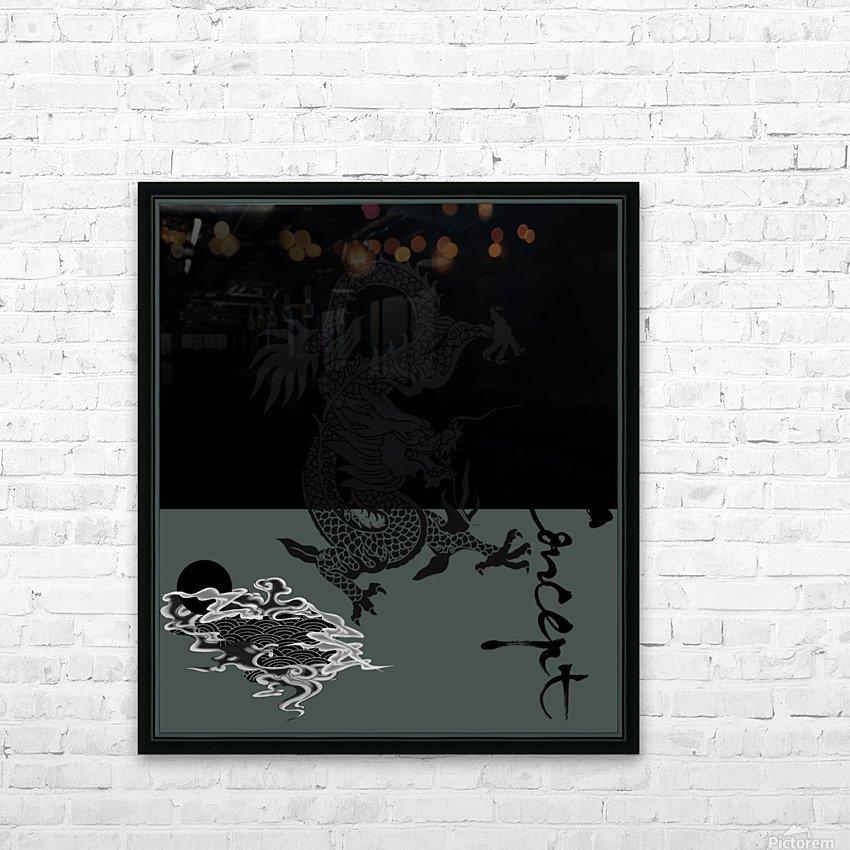Chinese Concept 44A HD sublimation métal imprimé avec décoration flotteur cadre (boîte)