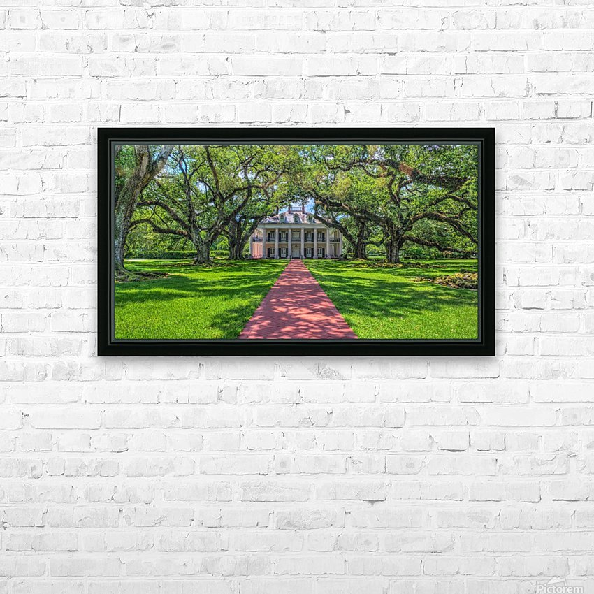 Oak Alley Plantation - HDR HD Sublimation Metal print with Decorating Float Frame (BOX)