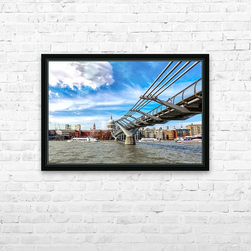 Landscape - London skyline - St Pauls Cathedral HD Sublimation Metal print with Decorating Float Frame (BOX)