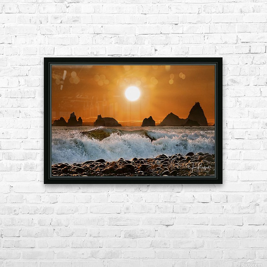 Sunset at Rialto Beach HD Sublimation Metal print with Decorating Float Frame (BOX)