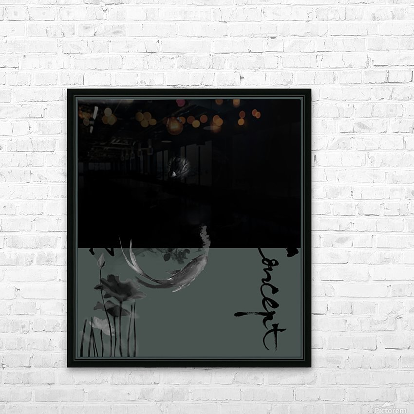 Chinese Concept 46A HD Sublimation Metal print with Decorating Float Frame (BOX)