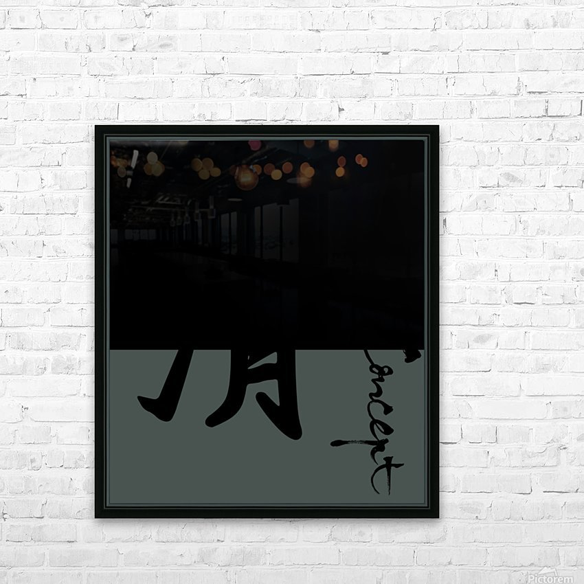 Chinese Concept 47A HD Sublimation Metal print with Decorating Float Frame (BOX)