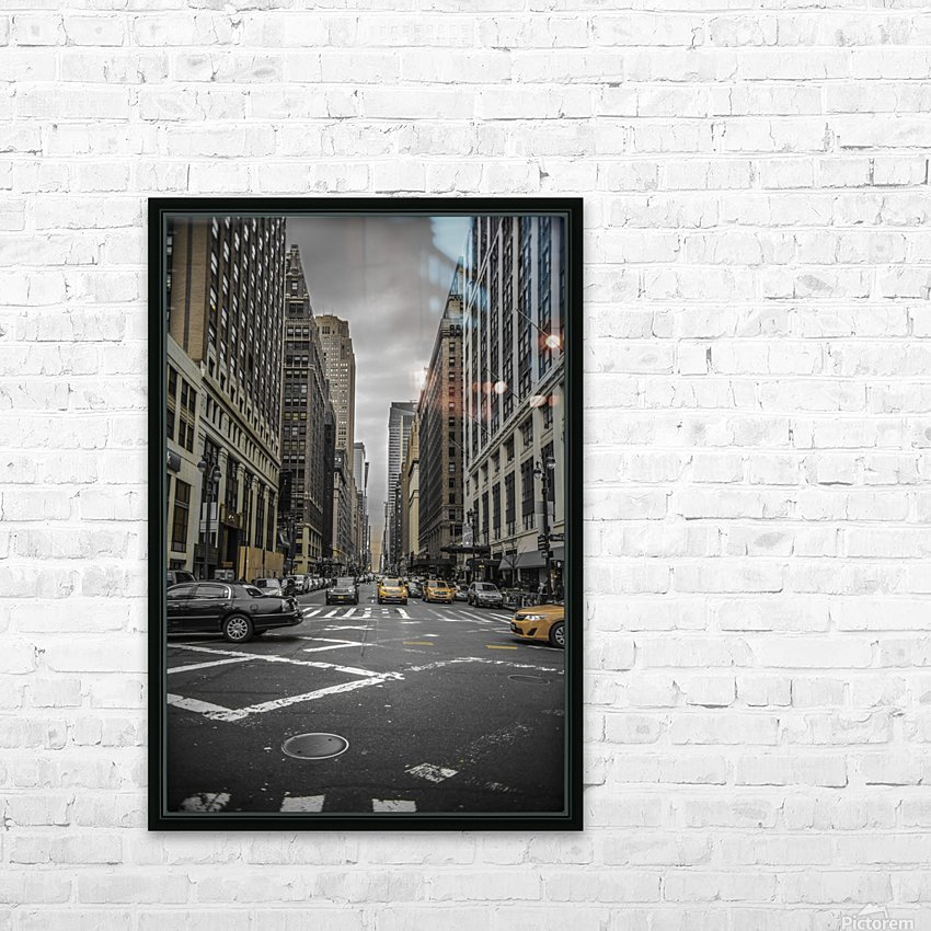 New York City  HD Sublimation Metal print with Decorating Float Frame (BOX)
