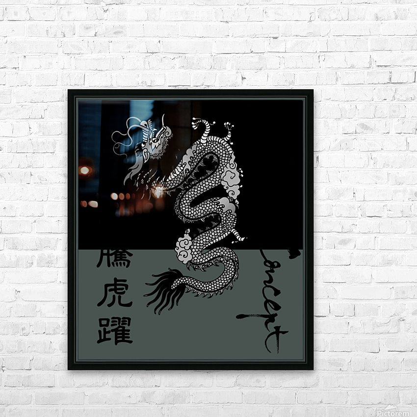 Chinese Concept 50A HD Sublimation Metal print with Decorating Float Frame (BOX)