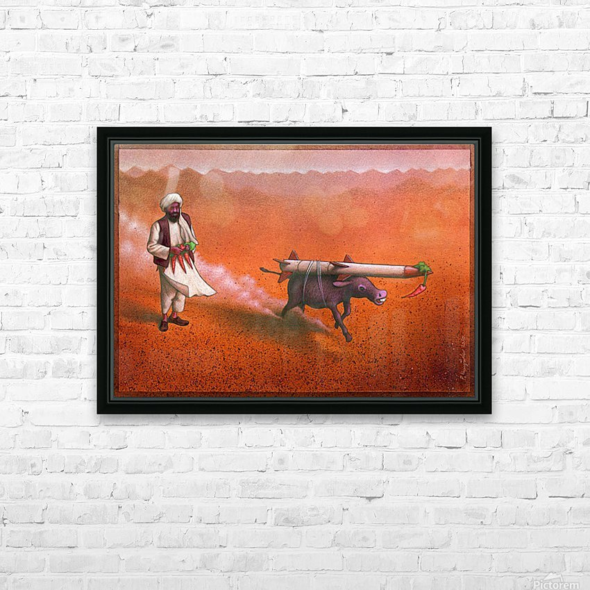 Rocket HD Sublimation Metal print with Decorating Float Frame (BOX)