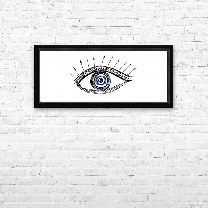 The Eye 20X8 HD Sublimation Metal print with Decorating Float Frame (BOX)