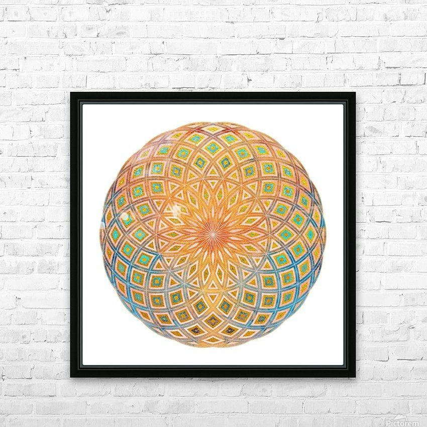 Life Geometry HD Sublimation Metal print with Decorating Float Frame (BOX)