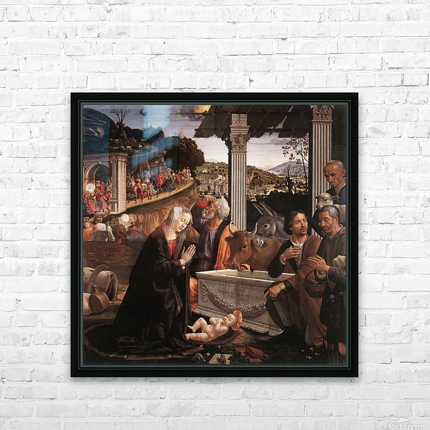 The adoration of the sheperds HD Sublimation Metal print with Decorating Float Frame (BOX)