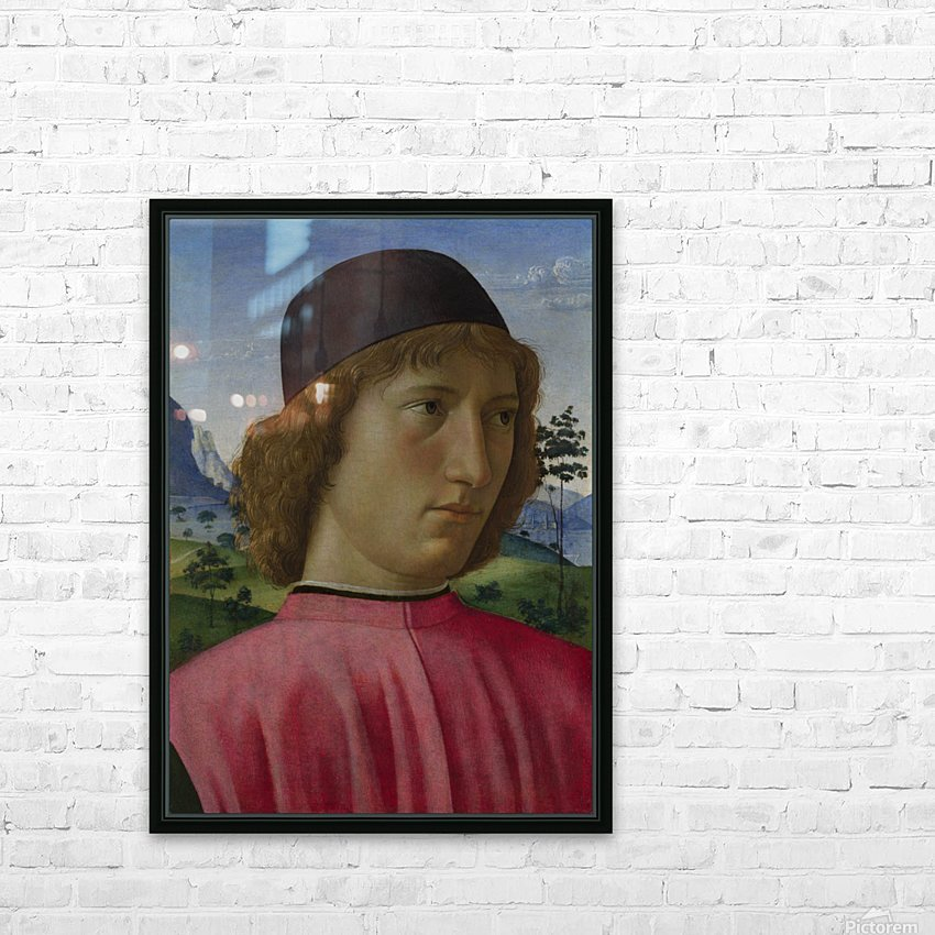 Portrait of a young men in red HD Sublimation Metal print with Decorating Float Frame (BOX)