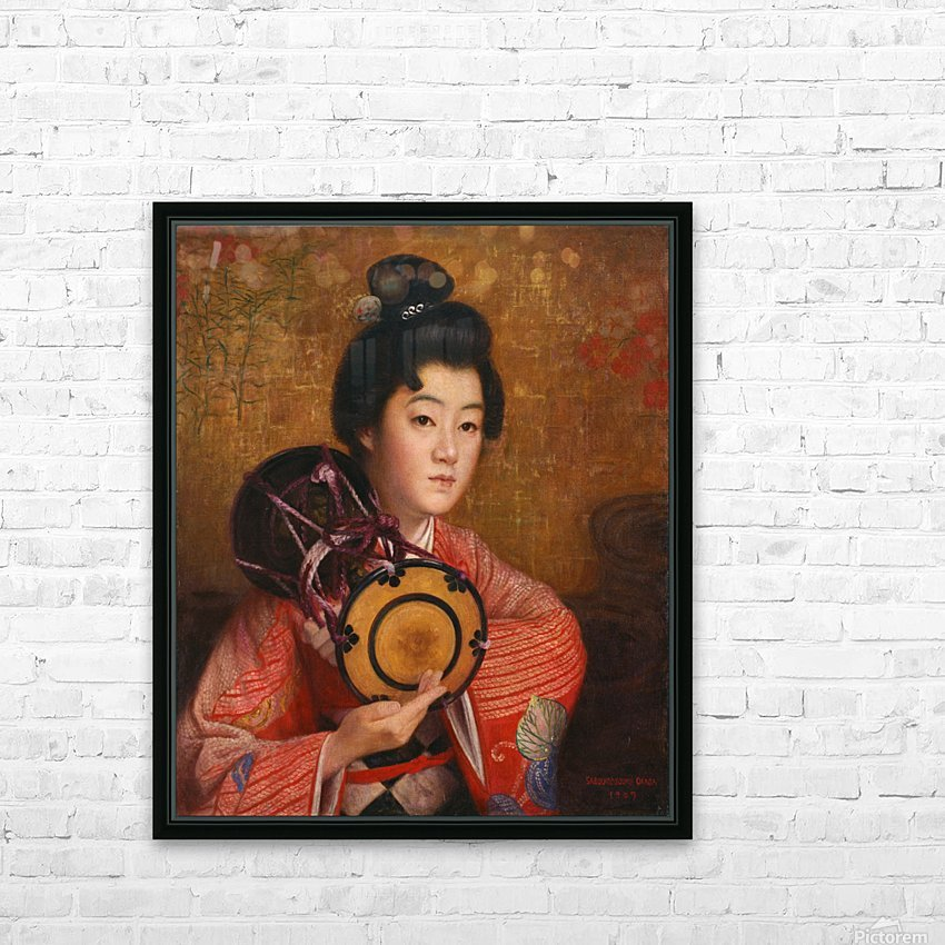 Portrait of a lady HD Sublimation Metal print with Decorating Float Frame (BOX)