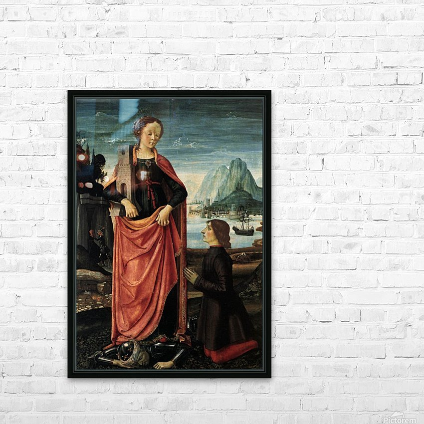 St Barbara crushing her father HD Sublimation Metal print with Decorating Float Frame (BOX)