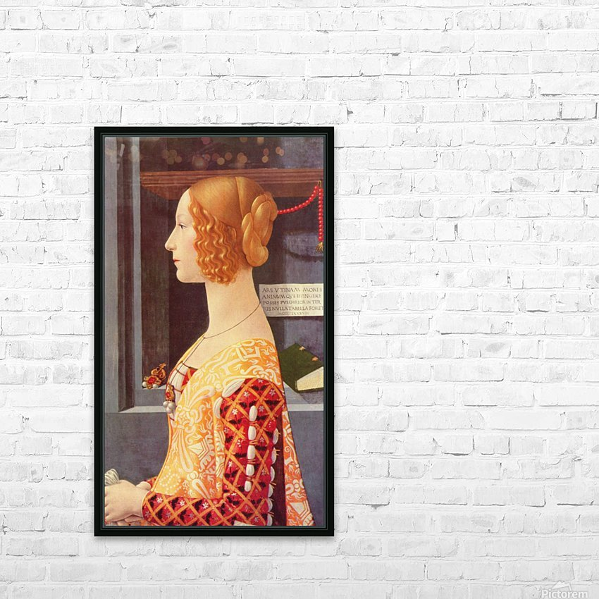 Portrait of Giovana HD Sublimation Metal print with Decorating Float Frame (BOX)