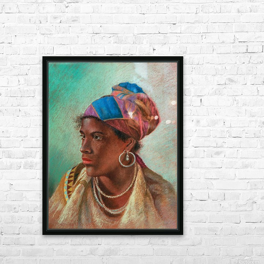 Portrait of a woman HD Sublimation Metal print with Decorating Float Frame (BOX)